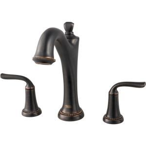 Patience 2-Handle Deck-Mount Roman Tub Faucet for Flash Rough-in Valves in Legacy Bronze