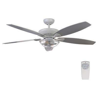 Connor 54 in. LED Matte White Dual-Mount Ceiling Fan with Light Kit and Remote Control