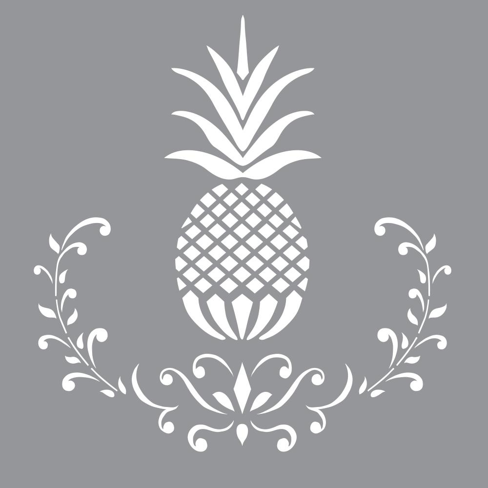 This is a picture of Eloquent Pineapple Stencil Printable