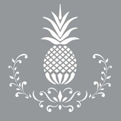12 in. x 12 in.  Posh Pineapple Stencil