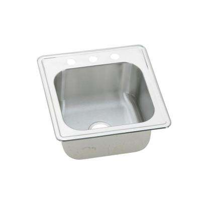 Celebrity Drop-In Stainless Steel 20 in. 3-Hole Single Bowl Kitchen Sink