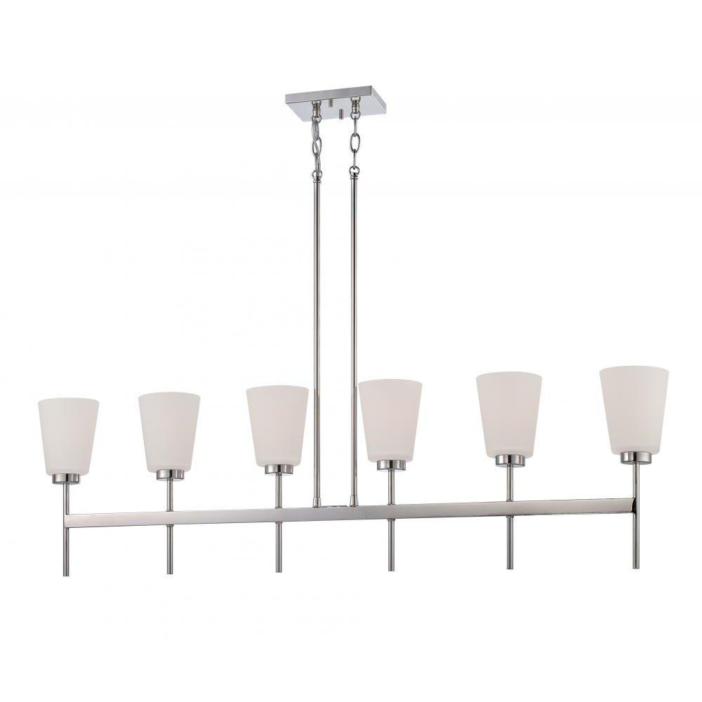Glomar 6-Light Polished Nickel Incandescent Ceiling Pendant