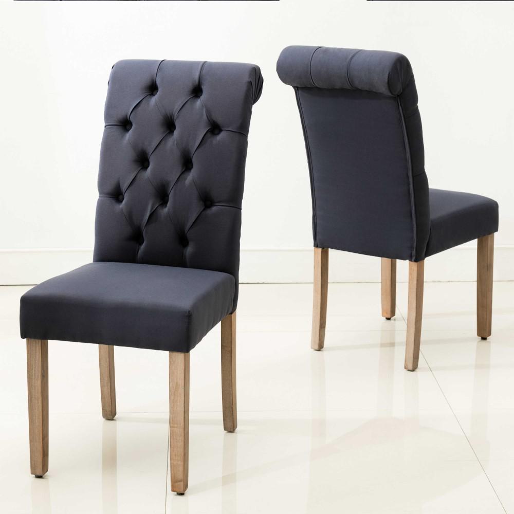 HomeRoots Caroline Blue Wood Side Chair (Set of 2)