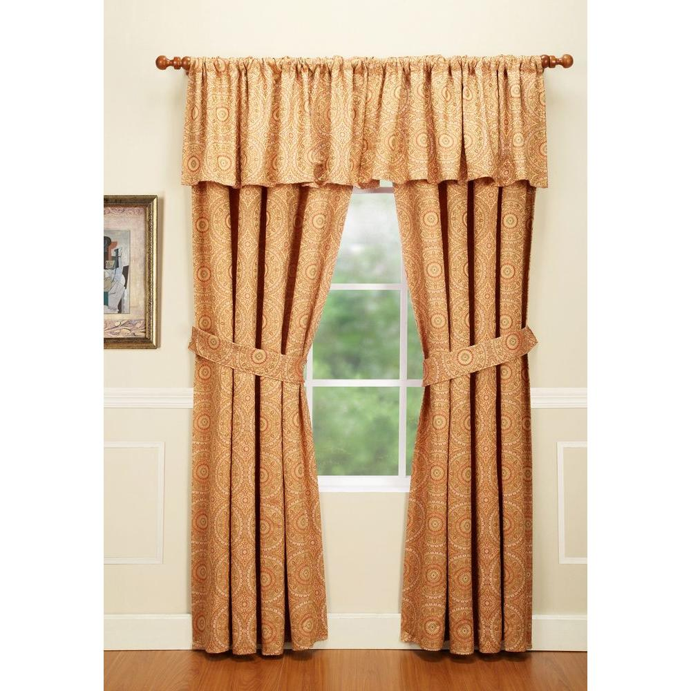 Home Fashions International Cartier Cornfield Rod Pocket Curtain-DISCONTINUED