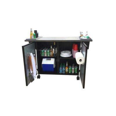 The Grill Companion 51 in. Painted Steel Mobile Tabletop and Tool Cart