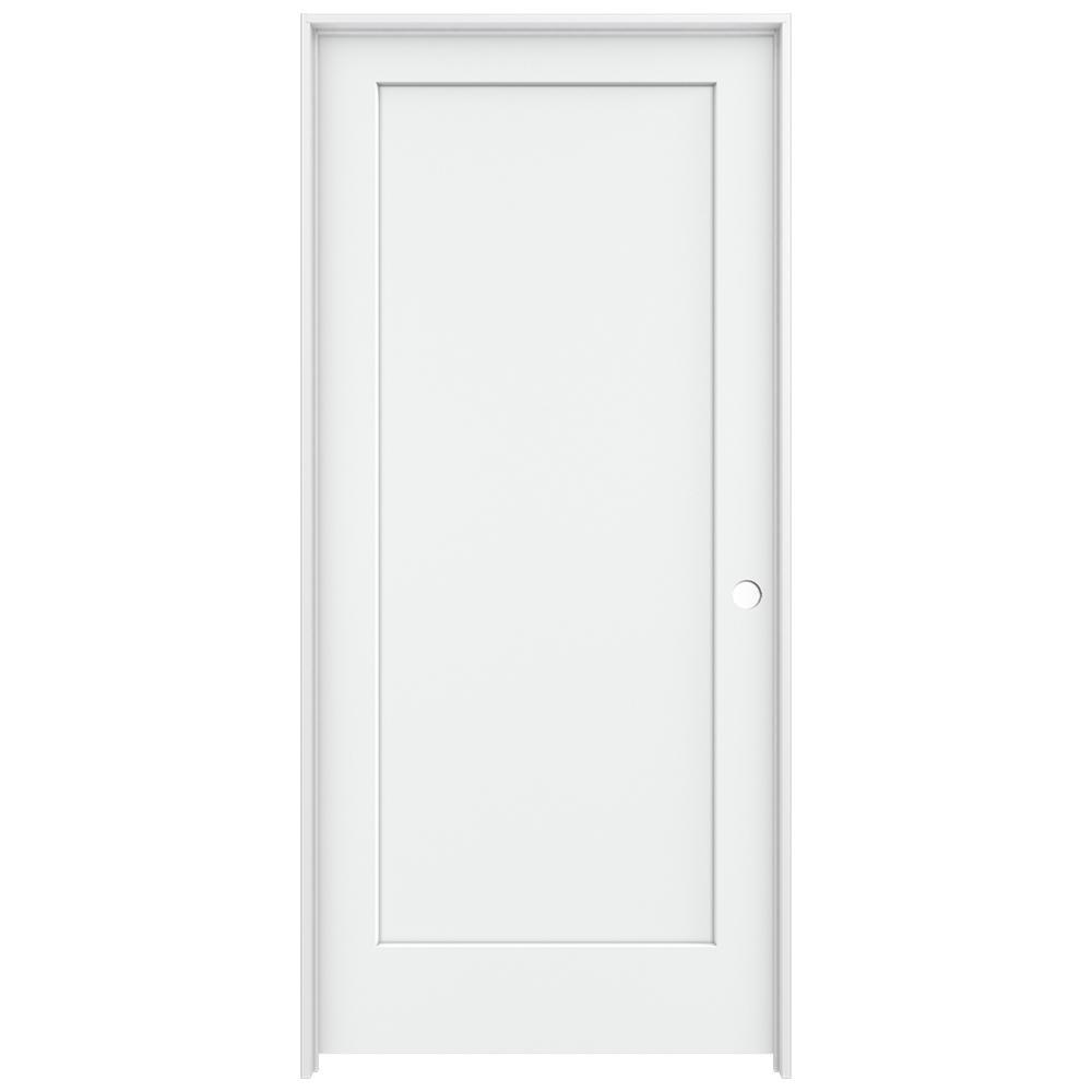 Jeld Wen 36 In X 80 In Madison White Painted Left Hand