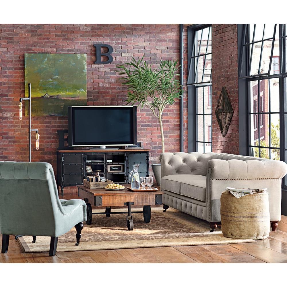 Home Decorators Collection Gordon Natural Linen Sofa