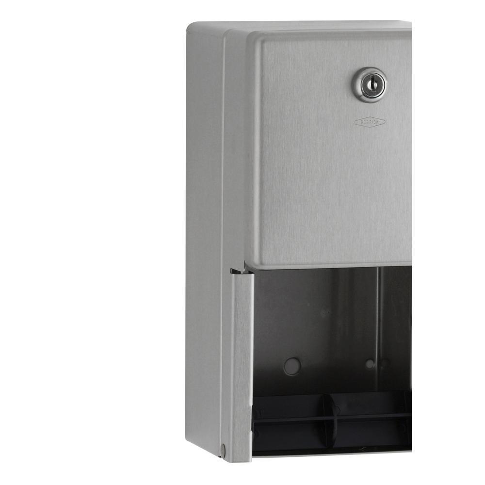 Multi-Roll Toilet Tissue Dispenser in Satin