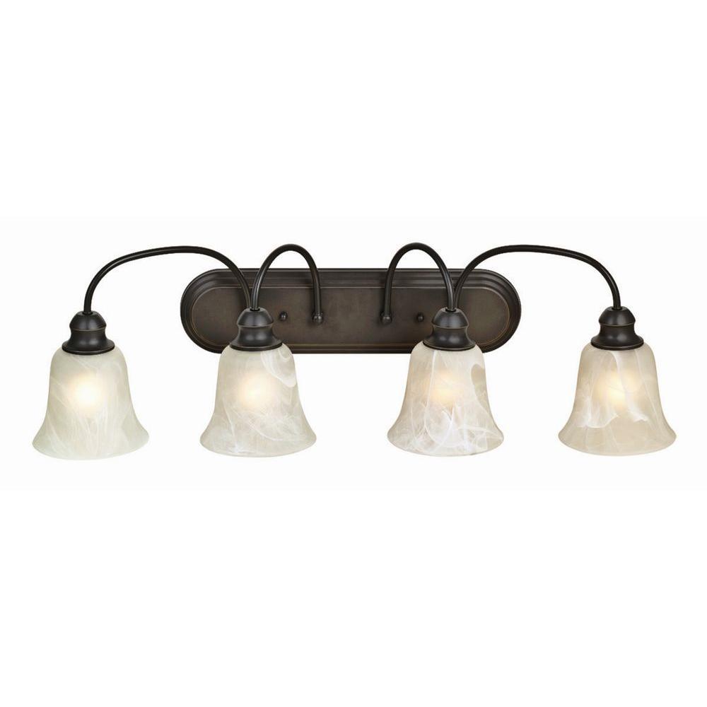 Design House Ridgeway 4-Light Oil Rubbed Bronze Vanity Light Fixture