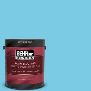 Behr Ultra 1 Gal P490 3 Big Chill Flat Exterior Paint And Primer In One 485001 The Home Depot