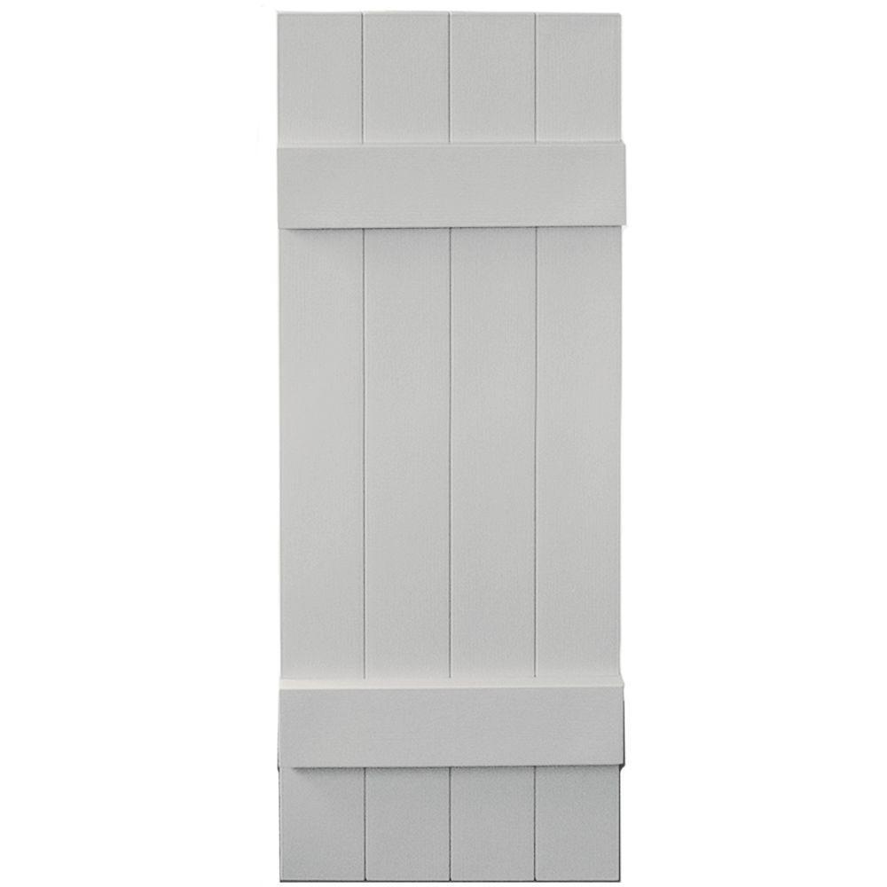 Builders edge 14 in x 39 in board n batten shutters pair for Exterior board
