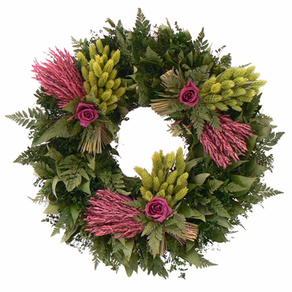 The Christmas Tree Company Love Eternal 20 in. Dried Floral Wreath-DISCONTINUED
