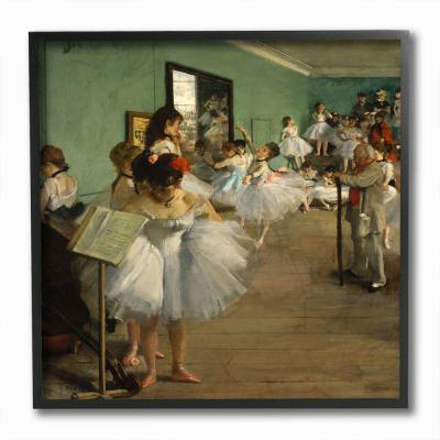 "The Stupell Home Decor Collection 12 in. x 12 in. ""Degas The Dance Class Ballet Classical Painting"" by Edgar Degas..."