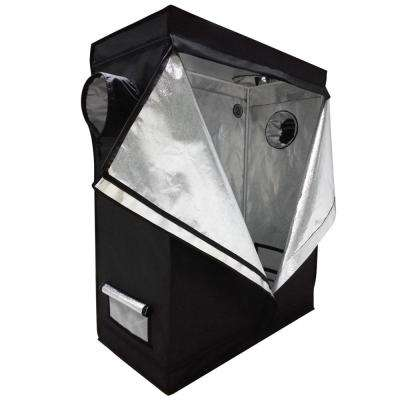 4.1 ft. x 1.9 ft. Home Use Dismountable Hydroponic Plant Black Grow Tent