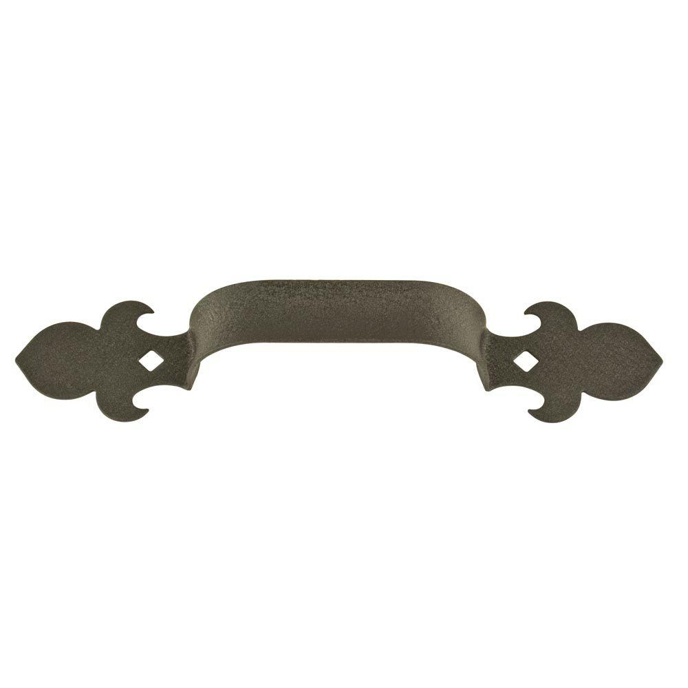 Crown MetalWorks Black Fleur-De-Lis Decorative Garage Lift Pull