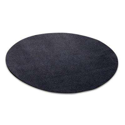 27 in. Round Black Under-the-Grill Protective Deck and Patio Mat