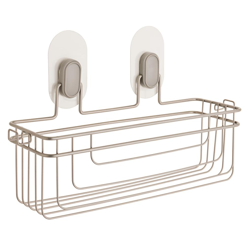 Franklin Brass Single Storage Basket with Clear IncrediGrip Pads in Nickel