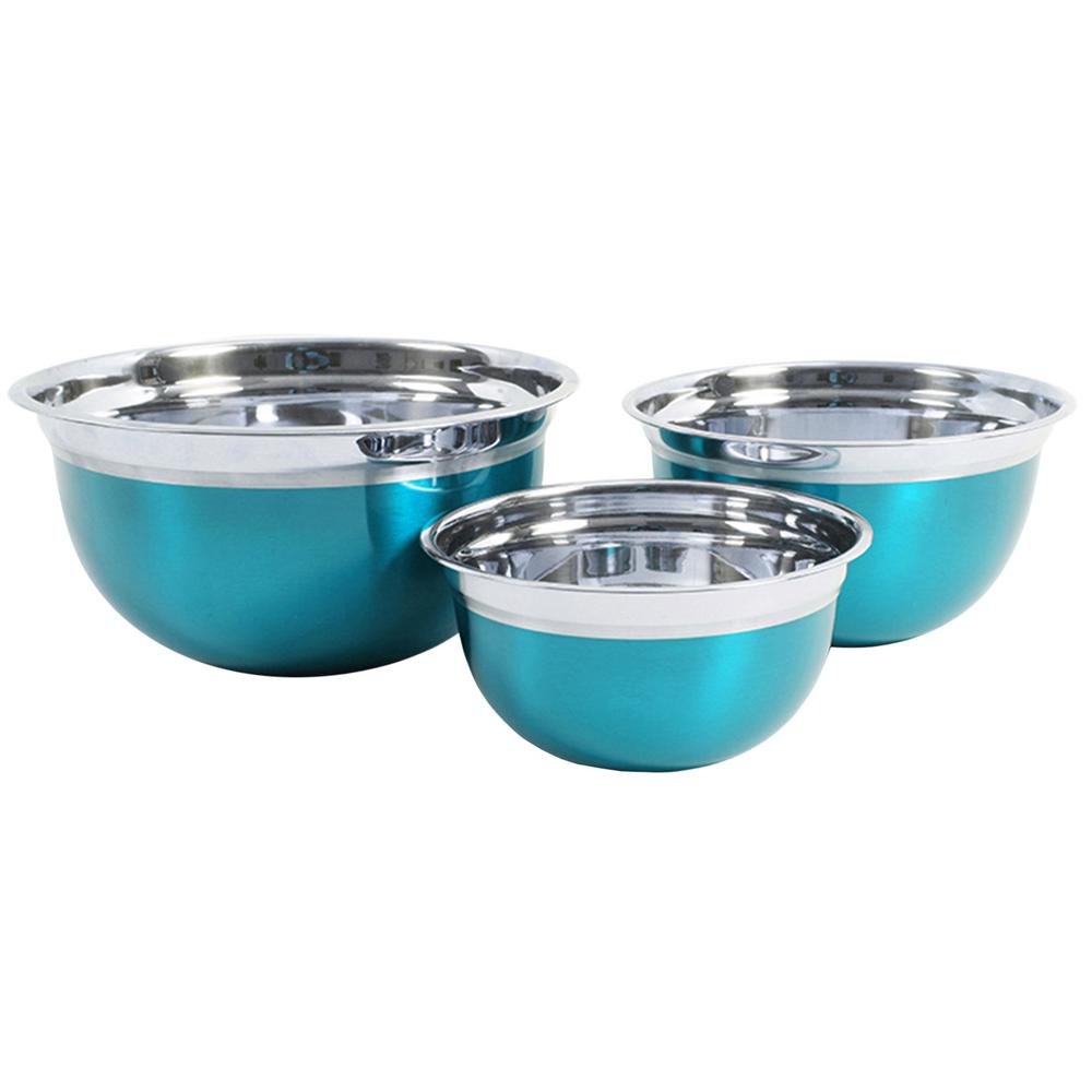 Rosamond 3-Piece Stainless Steel Mixing Bowl Set