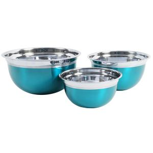 Click here to buy Oster Rosamond 3-Piece Stainless Steel Mixing Bowl Set by Oster.