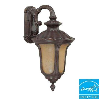 1-Light Outdoor Fruitwood Fluorescent Wall Light