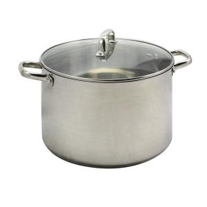 Adenmore 16 Qt. Stock Pot with Tempered Glass Lid