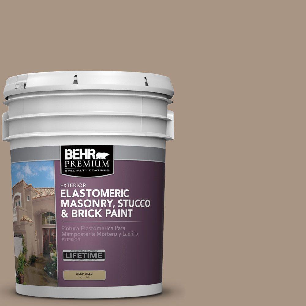 BEHR PREMIUM 5 gal. #MS-24 River Stone Elastomeric Masonry, Stucco and Brick Exterior Paint