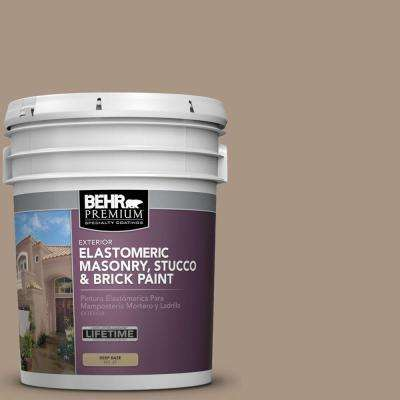5 gal. #MS-24 River Stone Elastomeric Masonry, Stucco and Brick Exterior Paint