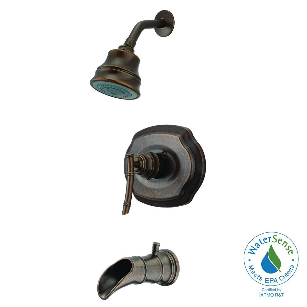 Glacier Bay Bamboo Single-Handle 3-Spray Tub and Shower Faucet in Bronze