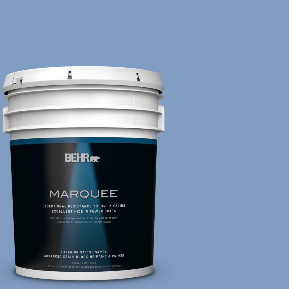5-gal. #M530-4 Washed Denim Satin Enamel Exterior Paint