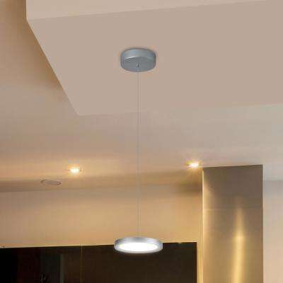 Salm 12 watt silver integrated led pendant lighting fixture