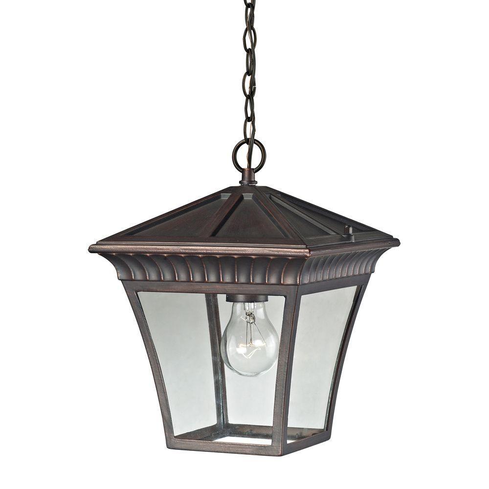 Ridgewood 1-Light Hazelnut Bronze Outdoor Pendant