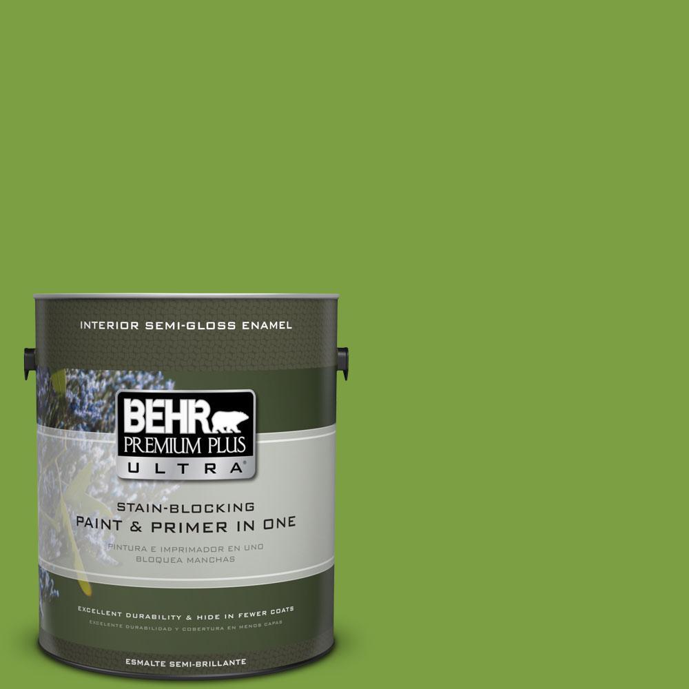 1-gal. #420B-7 Pepper Grass Semi-Gloss Enamel Interior Paint