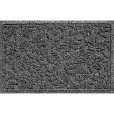 Aqua Shield Fall Day Charcoal 17.5 in. x 26.5 in. Door Mat