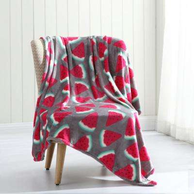 Morgan Home Tropical Plush Throw Blanket