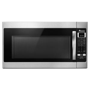 Amana 2 0 Cu Ft Over The Range Microwave In Stainless Steel With Sensor Cooking Amv6502res Home Depot