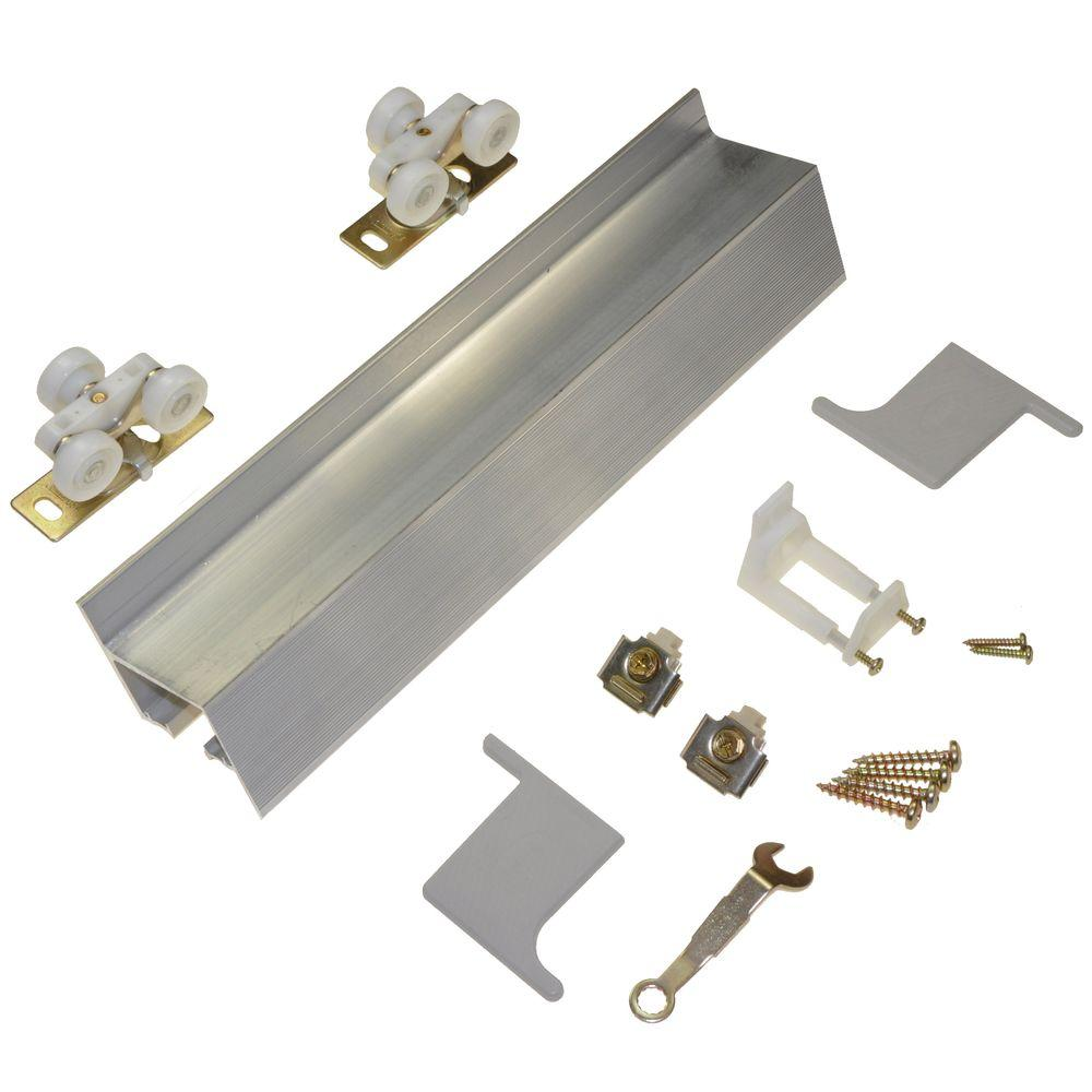 johnson hardware 2610f series 96 in track and hardware set for wallmount sliding