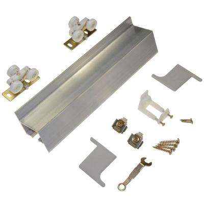 2610F Series 96 in. Track and Hardware Set for Wall-Mount Sliding Doors