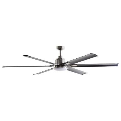 72 in. Integrated LED Brushed Chrome Ceiling Fan with Light and Remote Control