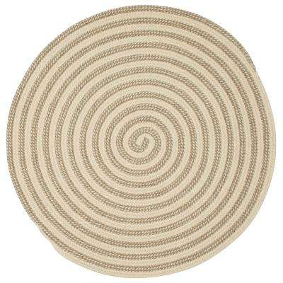 Charmed Natural 5 ft. x 5 ft. Braided Round Area Rug