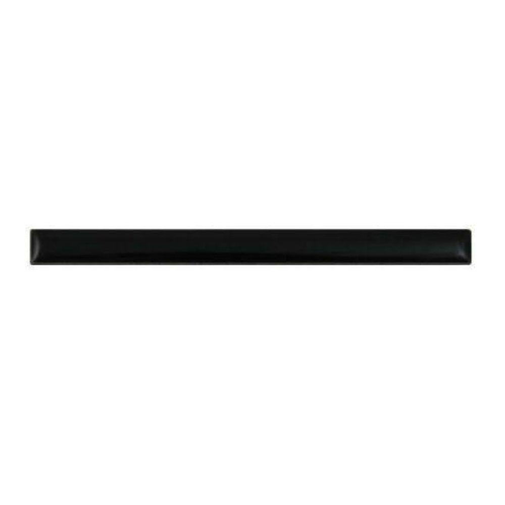 Semi-Gloss Black Flat 1/2 in. x 6 in. Ceramic Liner Wall