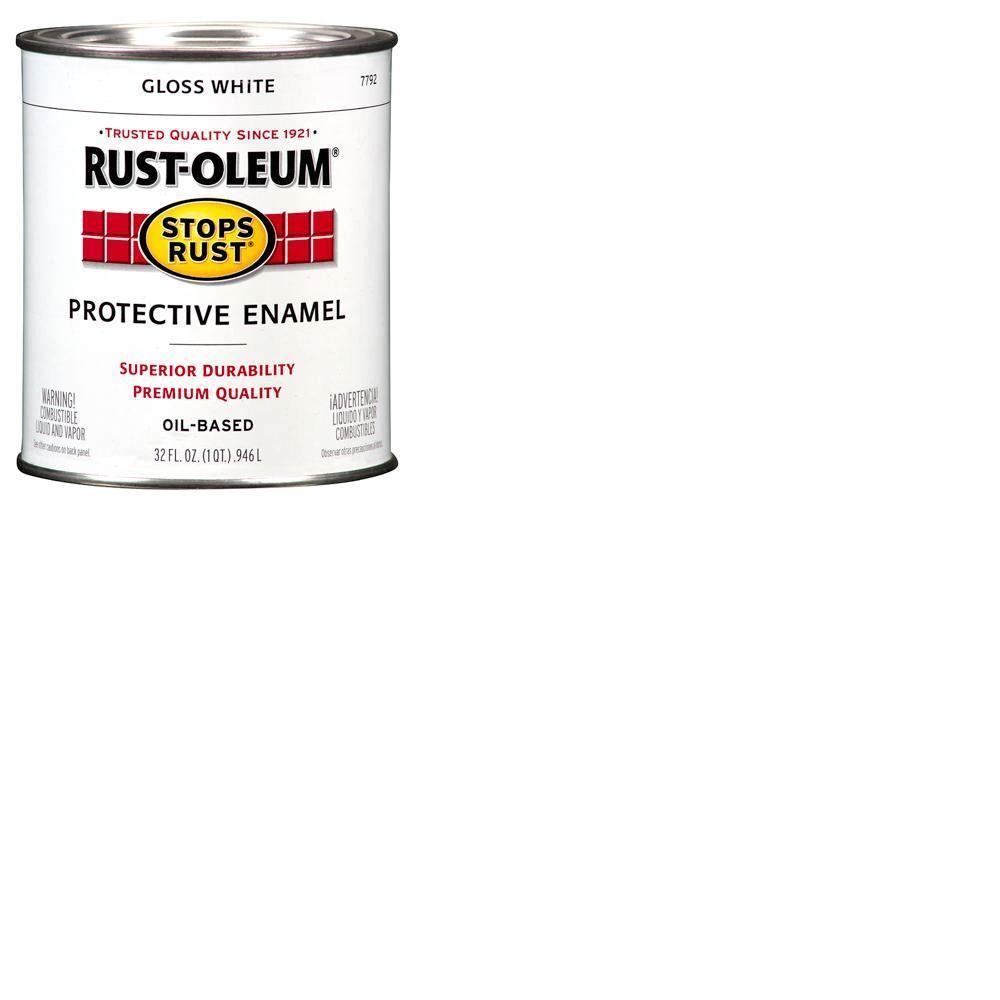 1 qt. Gloss White Protective Enamel Paint