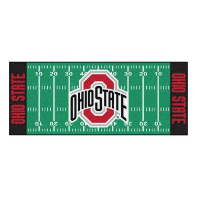 Ohio State University 3 ft. x 6 ft. Football Field Rug Runner Rug