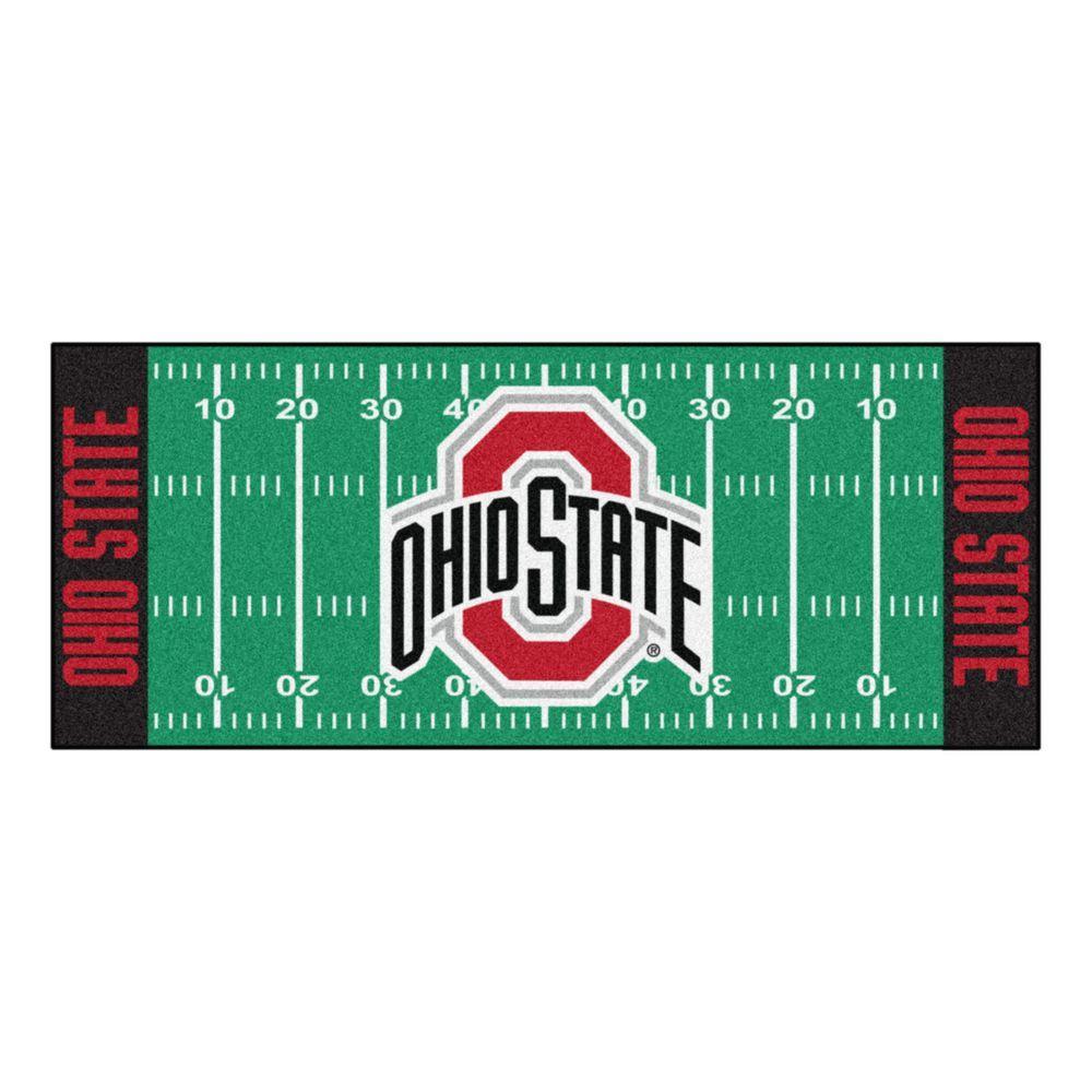 Ohio State University 3 ft. x 6 ft. Football Field Rug Runner Rug