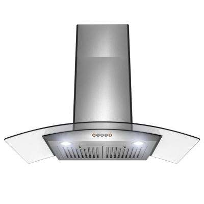 36 in. 350 CFM Convertible Wall Mount Range Hood with LEDs in Stainless Steel