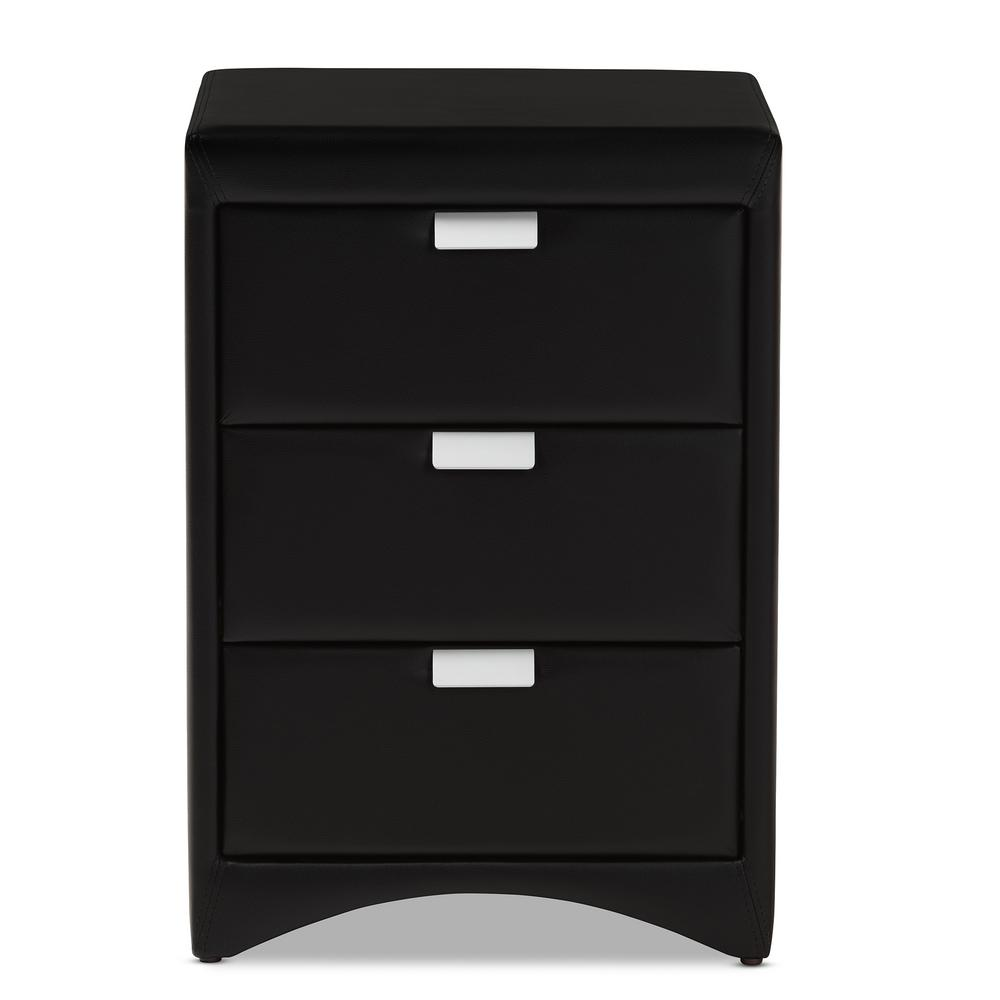 prepac sonoma 2 drawer black nightstand bdc 2428 the home depot. Black Bedroom Furniture Sets. Home Design Ideas
