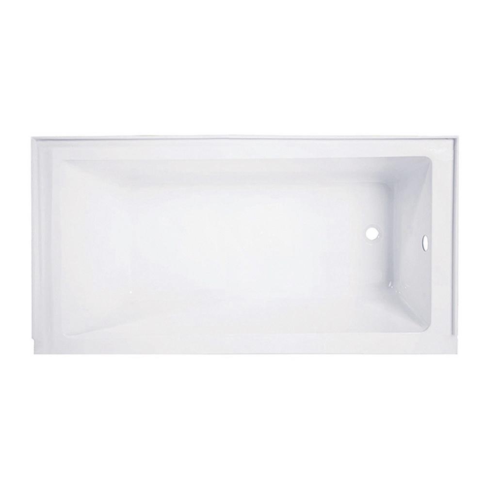 Carisa 5 ft. Acrylic Rectangular Drop-in Right-Hand Drain Bathtub in White