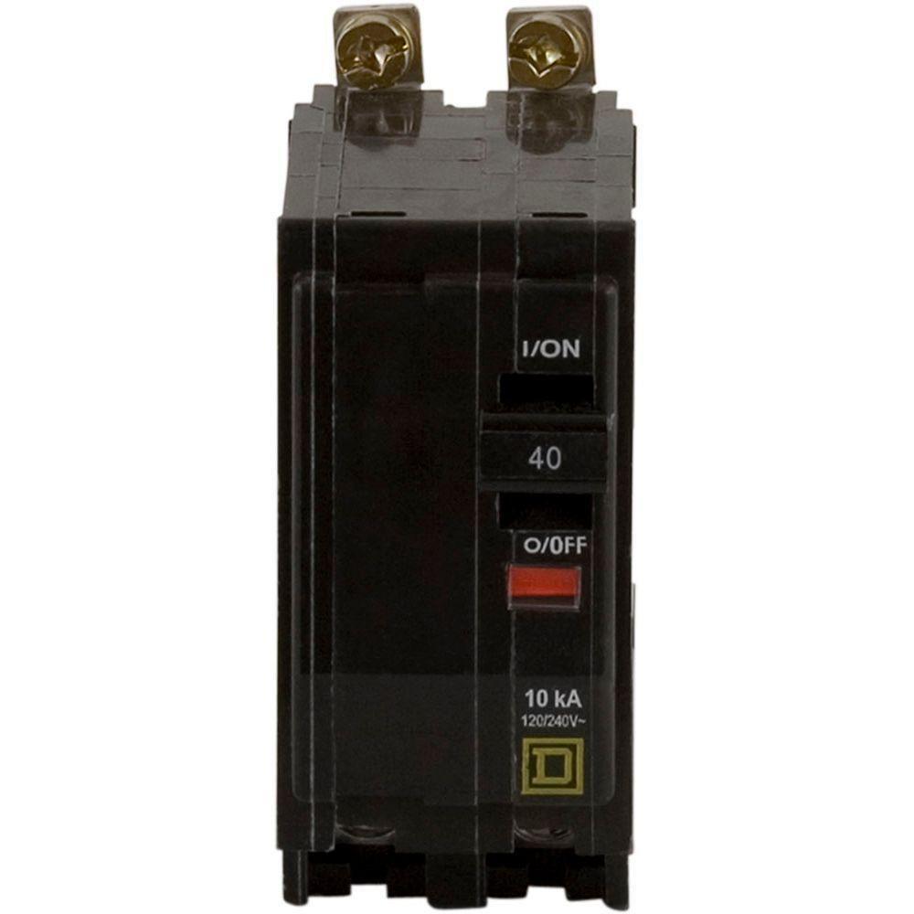 Square D QO 40 Amp 2-Pole Bolt-On Circuit Breaker-QOB240
