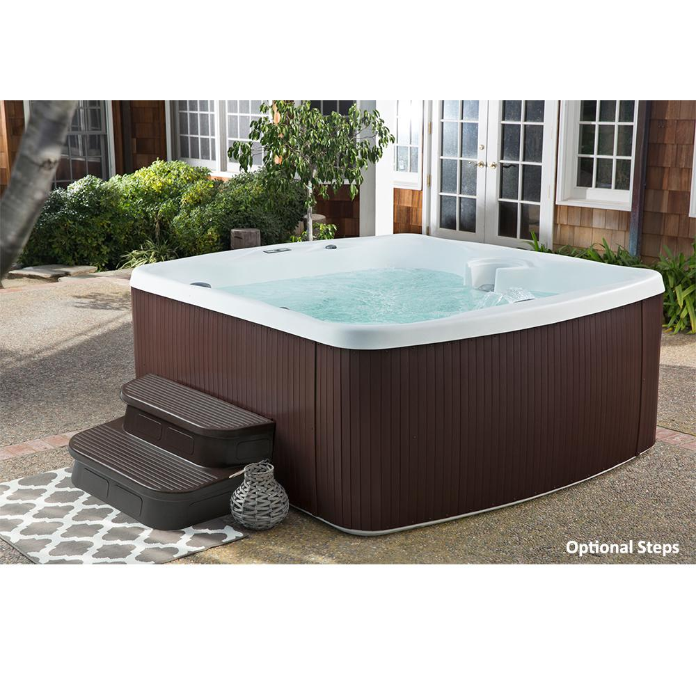 Home And Garden Spas 3 Person 14 Jet Corner Hot Tub Spa