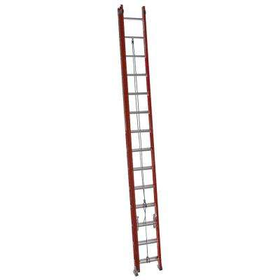 28 ft. Fiberglass Extension Ladder with 300 lb. Load Capacity Type IA Duty Rating