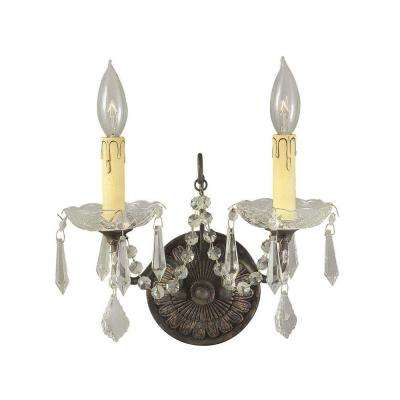 Timeless Elegance Collection 2-Light Bronze Sconce